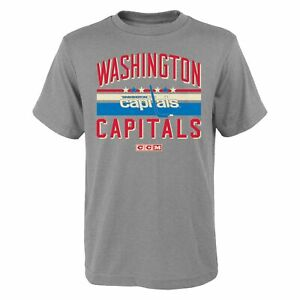 CCM NHL Youth (8-20) Washington Capitals Classic Stripes Short Sleeve T-Shirt