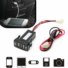 1x Universal In Dash 2-Port USB Car Socket Adapter 12V-24V Double Dual Port fu