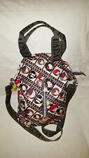 Harajuku Lovers Nylon Medium Satchel Shoulder Cross body Fold Over  Handbag