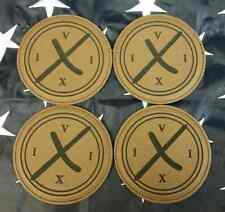 "CIA DevGru 160th Op Neptune Spear 4"" Brown Leather Coaster Set of 4 - 9/11 5/2"