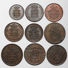 1838 1842 1847 1848 1852 1865 1871 1873 1874 PORTUGAL 5 10 20 REIS COINS