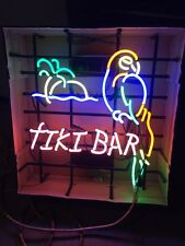 """NEW Tiki Bar Neon Sign with Parrot 20"""" W x 24"""" H x 3"""" D"""