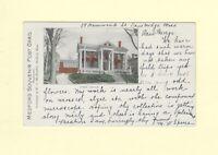 MA Medford 1903 antique postcard PUBLIC LIBRARY Mass to Riverton NJ