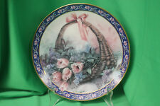 """Lena Liu """"Tulips and Lilacs"""" Collector Plate - 3rd in """"Basket Bouquets"""" Series"""