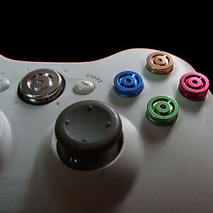 Chrome Aluminum Metal Color ABXY Guide Bullet Buttons for XBox 360 Controller