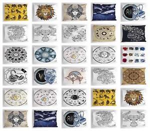Zodiac Pillow Sham Decorative Pillowcase 3 Sizes for Bedroom Decor