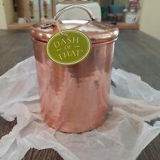 Copper kitchen Canister Medium Hammered