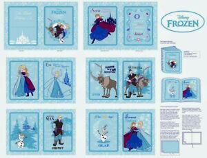 Frozen Soft Book Panel Disney Movie Elsa Anna Olaf Sven 12-page on Cotton Fabric