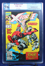 X-Force #15 (Marvel, 1992) PGX (not CGC) 9.6 NM+ Deadpool vs. Cable