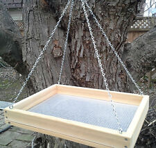 "Large 16"" Cedar Platform Screen Bird Feeder w/ Chains"