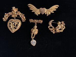 Kirks Folly set of 4 angel pins