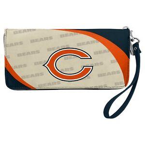 Chicago Bears NFL Women's Curve Zip Organizer Wallet / Purse