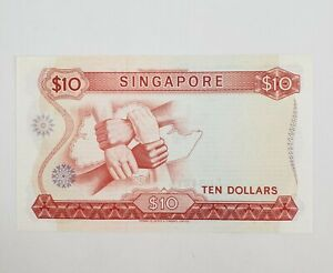 Singapore  $ 10 Dollars 1973 Orchid Series Banknote Ten