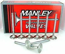 11537-8 Manley Severe Duty Exhaust Valves 1.625 +100 Long SB Chevy 350