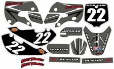 Kawasaki KLX110 2002-2009 Complete Graphics Kit - Grey Arrow - by FastTimes