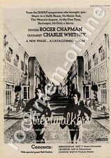 Streetwalkers Roger Chapman C Whitney Aston University MM4 LP/Tour Advert 1974