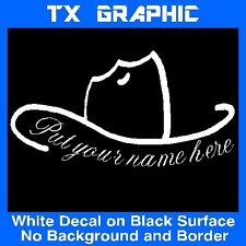 COWBOY HAT CUSTOM NAME COUNTRYSIDE HORSEMAN  STICKER VINYL DECAL AUTO WINDOW CAR