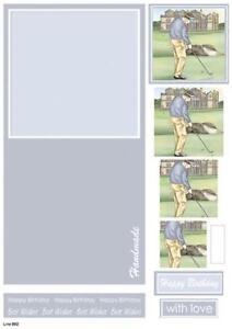 Craft UK Concept Card for Men - Die Cut Decoupage - Line 892 - Golf
