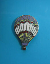 HOT  AIR  BALLOON  - hat pin , tie tac , lapel pin , hatpin (lavender/white)