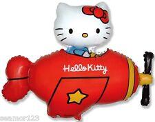 Hello Kitty Plane RED  Foil Balloon  Supershape WHOLESALE flexmetal 901720