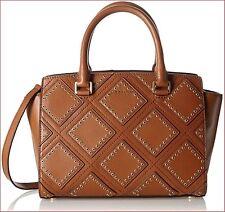 NWT Michael Kors Selma Medium Diamond Grommet Leather Satchel Luggage $498