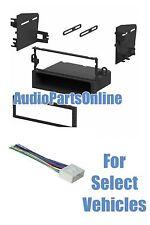 Single Din Car Stereo Radio Kit Combo for 1999-2002 Daewoo Lanos Leganza Nubira