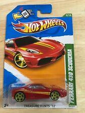 2012 Hot Wheels Treasure Hunt FERRARI 430 SCUDERIA MINT CARD