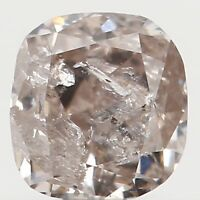 Natural Loose Diamond Cushion Brown Pink Color I1 Clarity 3.30 MM 0.19 Ct KR908