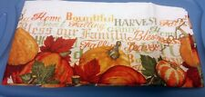 "Printed Linen Tablecloth 70"" ROUND (6-8 ppl) HARVEST, PUMPKINS, Thanksgiving"