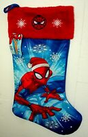 Marvel Comics Spider-Man Red Snowflake Christmas Holiday Stocking New Tags