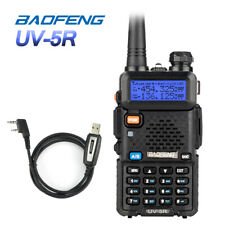 BaoFeng UV-5R +USB Kabel VHF UHF Amateurfunk PMR FM Hand-funkgerät Walkie-Talkie