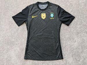 Nike Brasil Brazil Player Issue 2020 GK Goalkeeper Soccer Jersey sz M CD8306-022