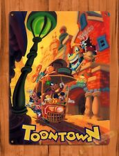 TIN SIGN Disney Mickey Mouse Toontown Roger Rabbit Cartoon Movie Art Poster