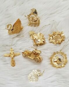 THE DANBURY MINT 2013 GOLD CHRISTMAS ORNAMENT COLLECTION