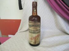 S1 1890's Antique Lash's Bitter Bottle Homer's Ginger Cordial