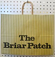 LOT 24 Vintage GREEN Paper Shopping Bag Briar PLACE 16 x 12 CW Wrapped Handle