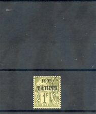 TAHITI Sc 28(YT 30)VF USED, 1893 1F OLIVE, $135