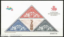 """Spain - """"SHIPS ~ COLUMBUS ~ 500th ANN. DISCOVERY OF AMERICA"""" MNH MS 1992 !"""