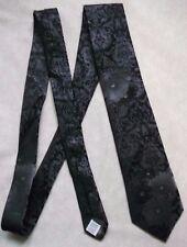 Baumler tous Soie Cravate Classique Homme Cravate Brillant Foncé Argent Noir à motifs