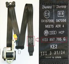 VW Polo Seat Belt Passengers Side Front 3 Door 9N 2002 to 2005 6Q3 857 705 G