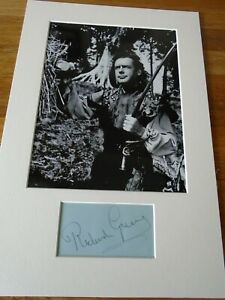 Richard Greene Robin Hood Genuine Signed Authentic Autograph - UACC / AFTAL.