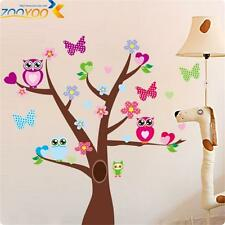 Cartoon tree jungle owl butterfly decor kids room decor Wall sticker wall decals