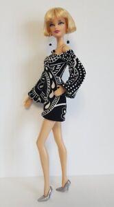 Model Muse Barbie Clothes Retro DRESS & JEWELRY Fashionistas Fashion NO DOLL d4e