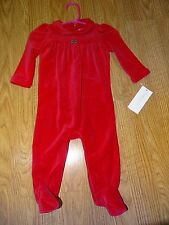 Ralph Lauren Baby Girls' Red Coveralls Size 6 Months Christmas NWT Infant