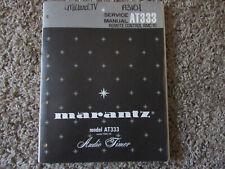 New listing Marantz At333 Audio Timer Original Service Repair Manual