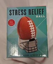 Stress Relief Football W/Bonus Stand Football Themed Stress Ball