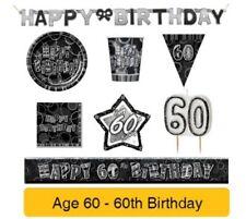 Pancartas y guirnaldas de fiesta color principal negro cumpleaños infantil