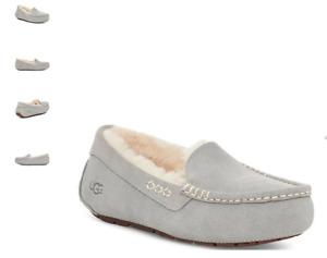 UGG Ansley Light Grey Moccasin Slipper Women's US sizes 5-12 NEW!!!