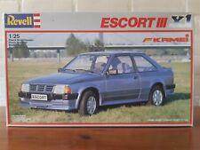 Revell 1/25 No: 7265 Ford Escort III X1 Kamei Mk3 Plastic Modelkit 1986