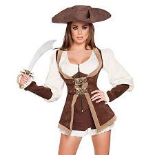Costume da pirata donna spada cappello carnevale carnevalesco dimensioni a scelta NUOVO-ORIGINALE USA